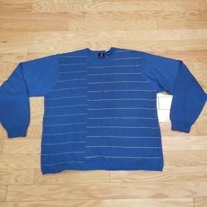 Van Heusen Blue Striped Sweater